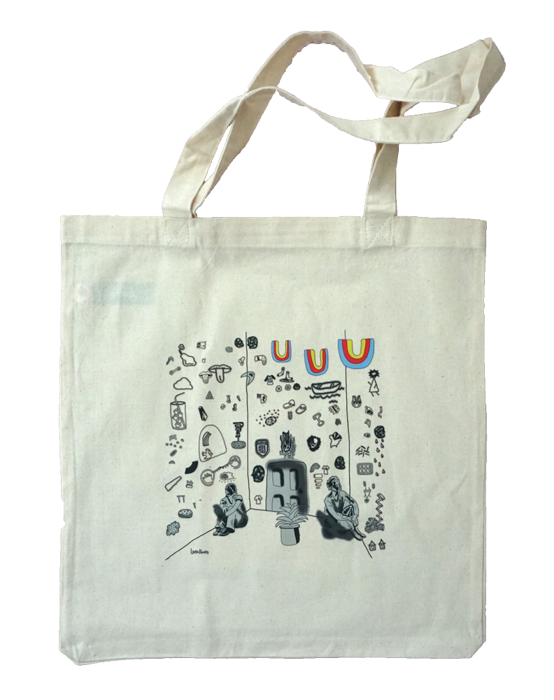 Fighting Words Tote Bag by Lauren Prousky