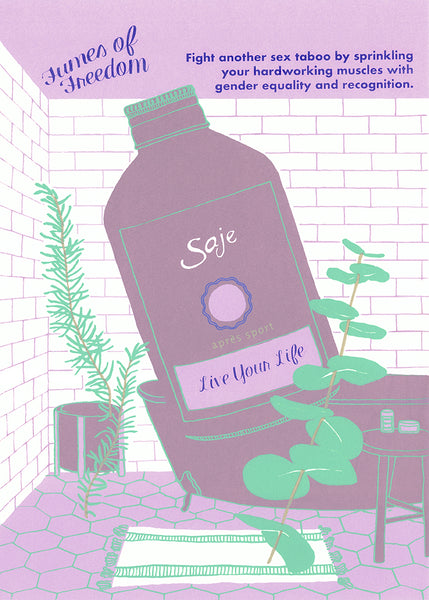 Live Your Life screen print by Kayla Polan
