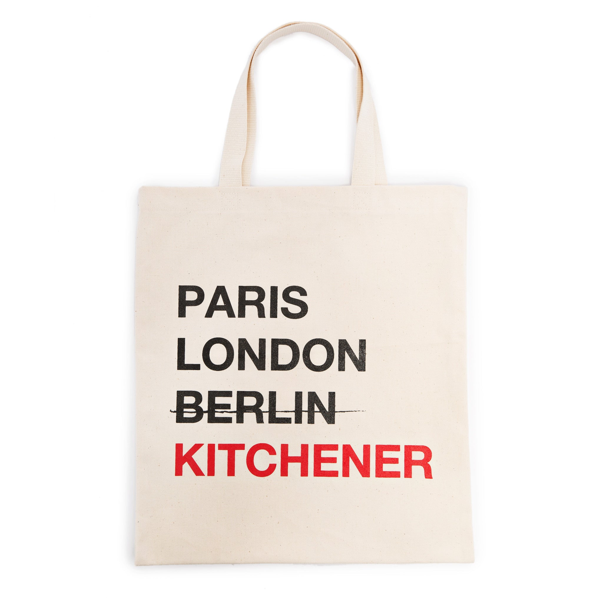 Paris London Berlin Kitchener Tote Bag