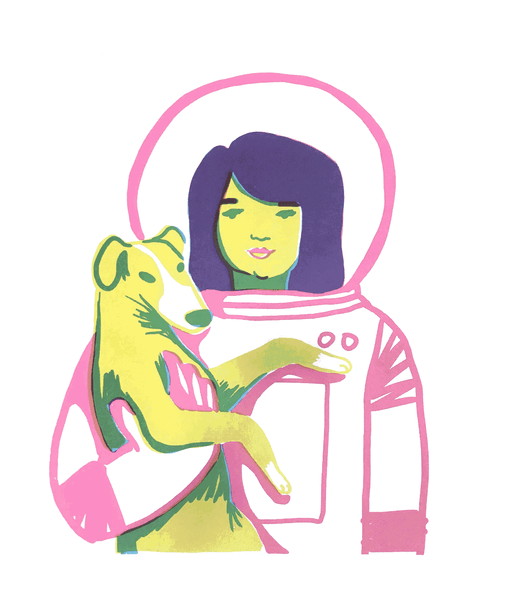 Astronaut Woman II by Jackie Lee
