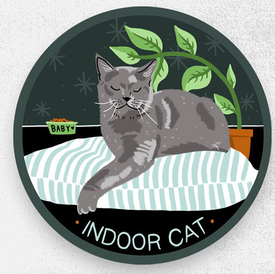 Stay Home Club Indoor Cat sticker