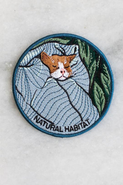 Stay Home Club Natural Habitat (Cat) Iron-On Patch
