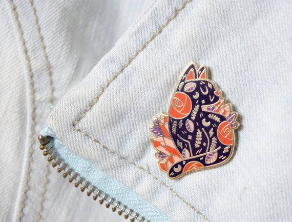 Boo the Cat enamel pin by Julie Campbell