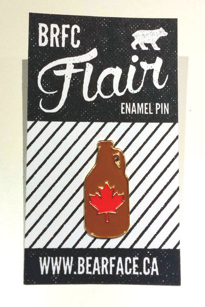 Bearface by BRFC Enamel Pin—Canadian Growler