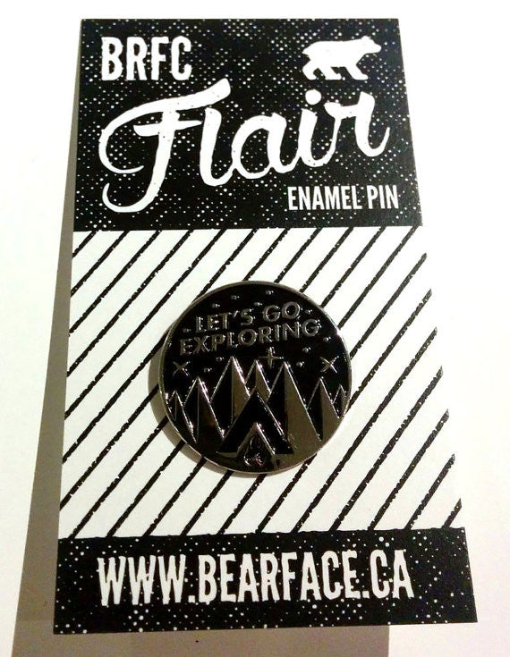 Bearface by BRFC Enamel Pin - Let's Go Exploring