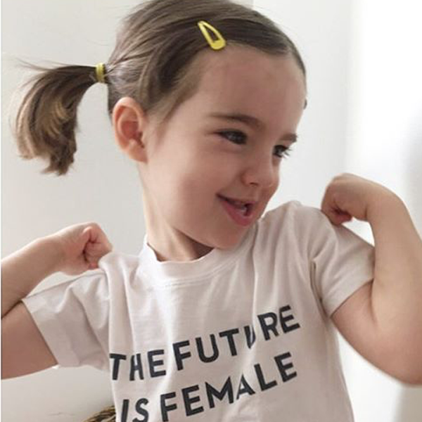 Otherwild THE FUTURE IS FEMALE onesies and toddler T-shirts