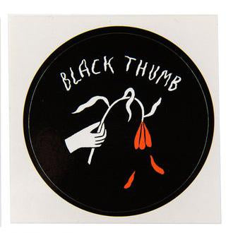 Stay Home Club sticker - Black Thumb by Kaye Blegvad