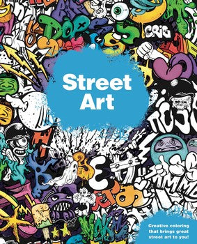 Street Art colouring book by BuzzPop