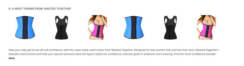 Waisted Together waist trainer Canada featured in SKYN Magazine
