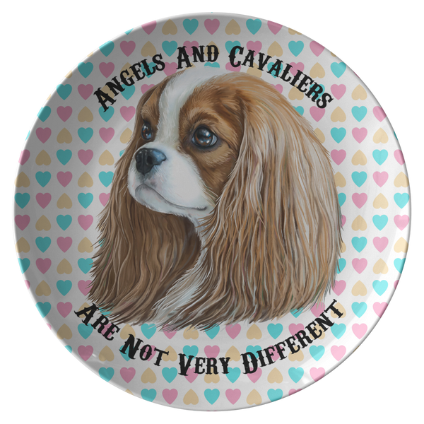 Cavalier King Charles Spaniel Blenheim Ceramic Dinner Plate