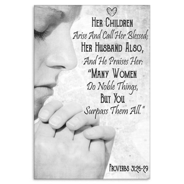 Bible verse gifts for women - Bible Verse Canvas Print - Proverbs 31