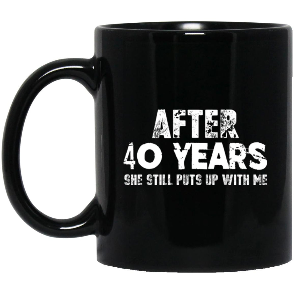 Anniversary Mug for Husband 40 Years Black Coffee Mugs - GoneBold.gift