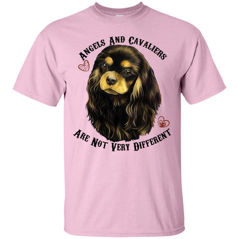 Cavalier King Charles Spaniel Black and Tan Angels T-Shirt - GoneBold.gift