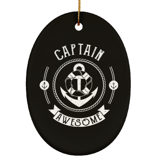 Captain Awesome Christmas Decoration Ornament