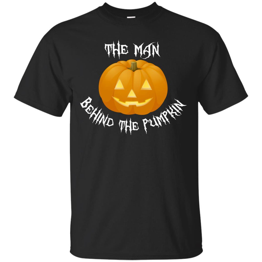 Dad Shirt Gift for Daddy Man Behind the Pumpkin Funny Unisex Tees - GoneBold.gift