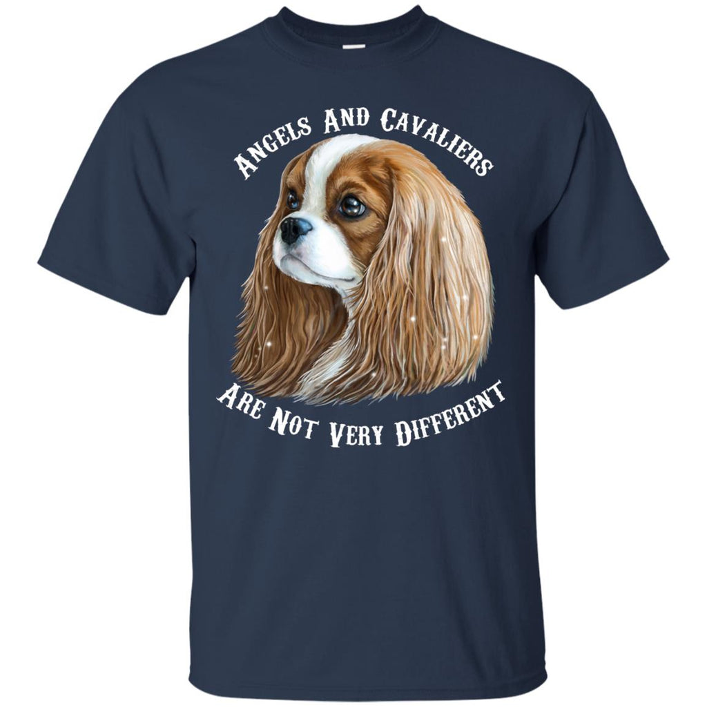 Cavalier King Charles Spaniel Blenheim Angels and Cavaliers Cotton T-Shirt - GoneBold.gift