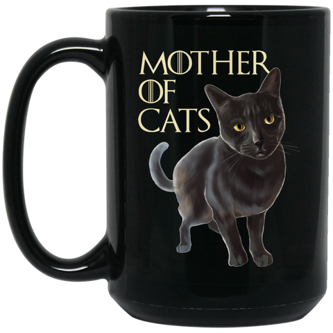 Cat Mug - Gray Cat Funny Gifts - Mother Of Cats - GoneBold.gift