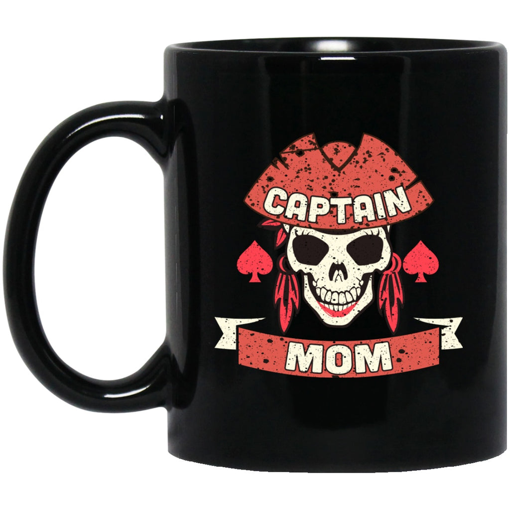 Captain Mom Mug Funny Black Coffee Mugs - GoneBold.gift
