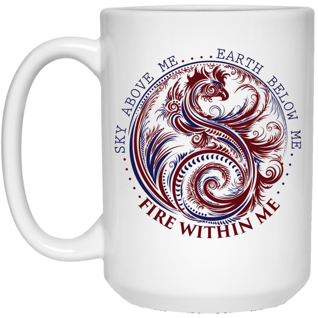 Yin Yang Dragon Coffee Mug - Wisdom Quotes, Fire Within Me, Yoga Gifts - GoneBold.gift
