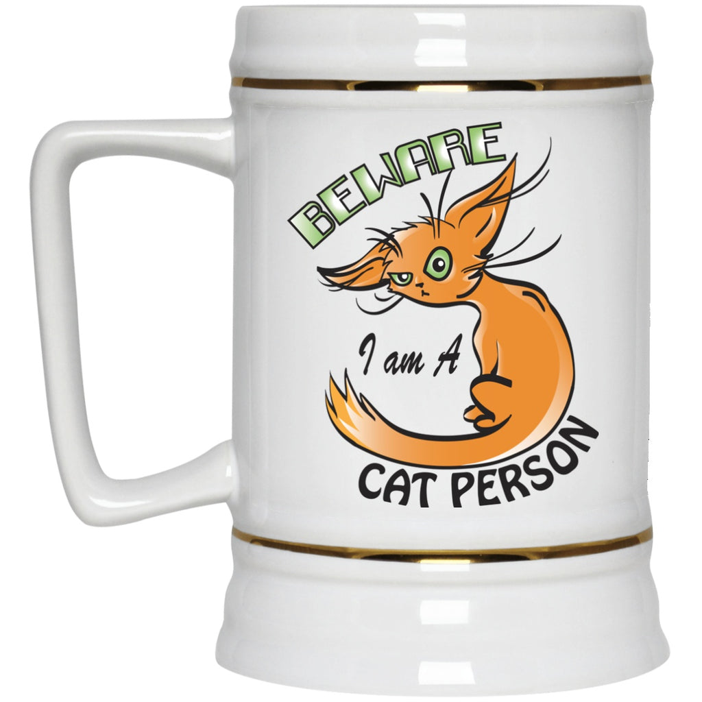 Cat Mug Beware i am A Cat Person White Mugs - GoneBold.gift