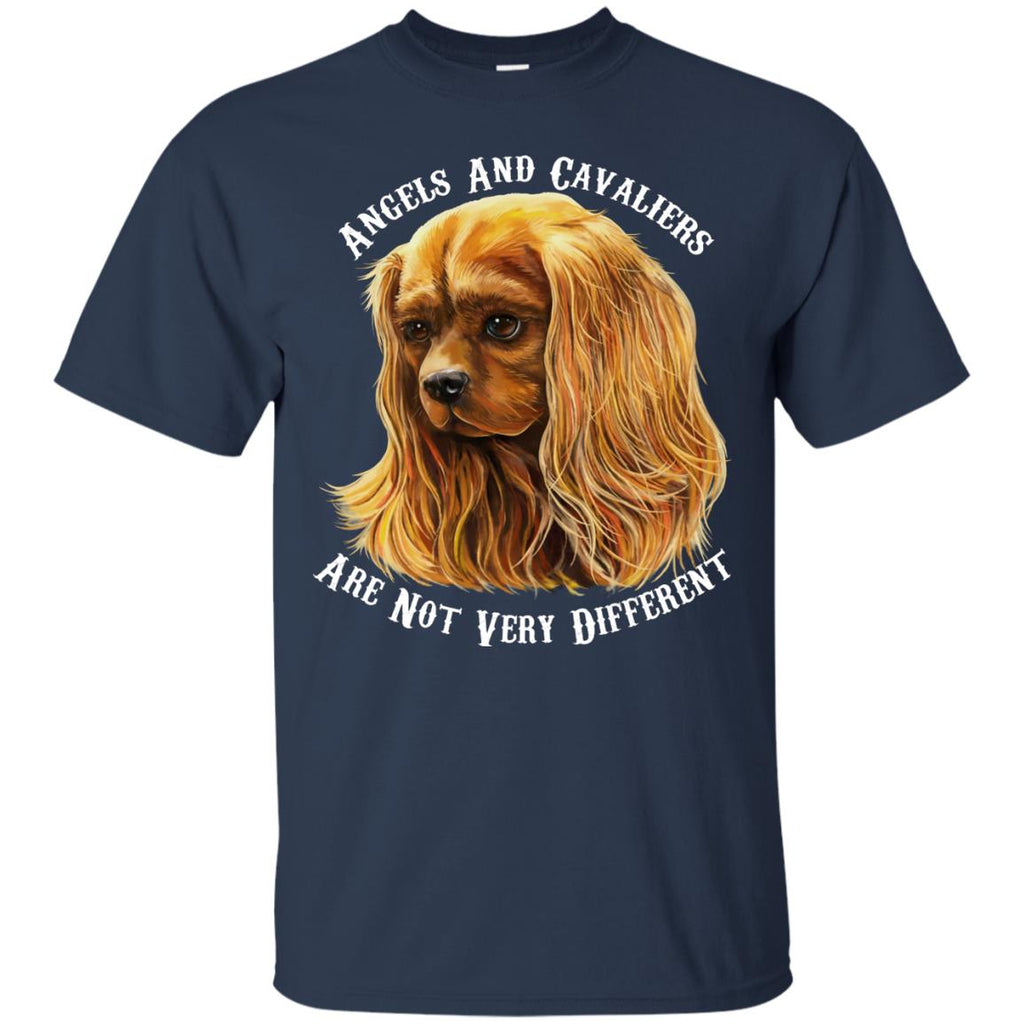 Cavalier King Charles Spaniel Ruby Angels and Cavaliers Cotton T-Shirt - GoneBold.gift