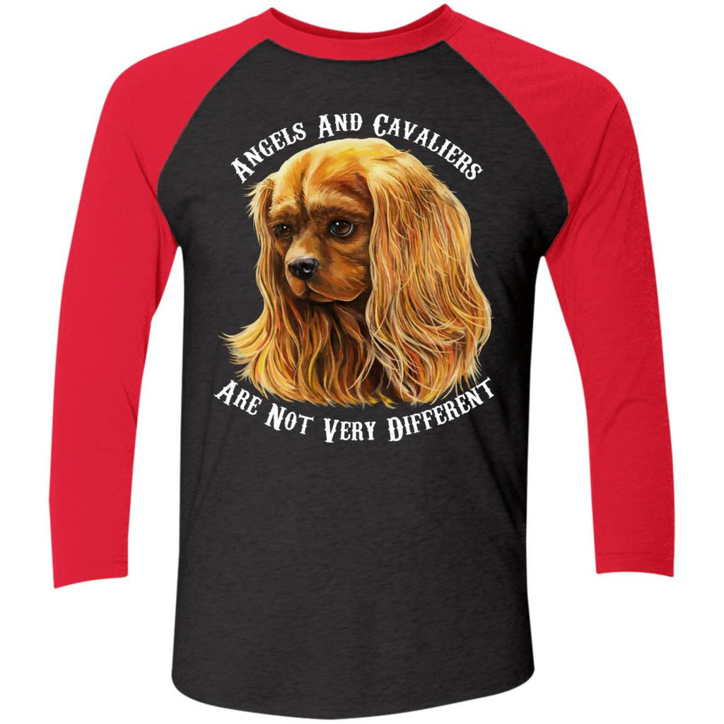 Cavalier King Charles Spaniel Ruby Angels and Cavaliers Baseball Raglan T-Shirt - GoneBold.gift