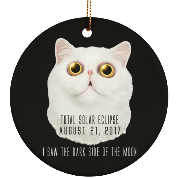 Christmas Tree Decorations - Solar Eclipse Cat Dark Side Of The Moon Ornament