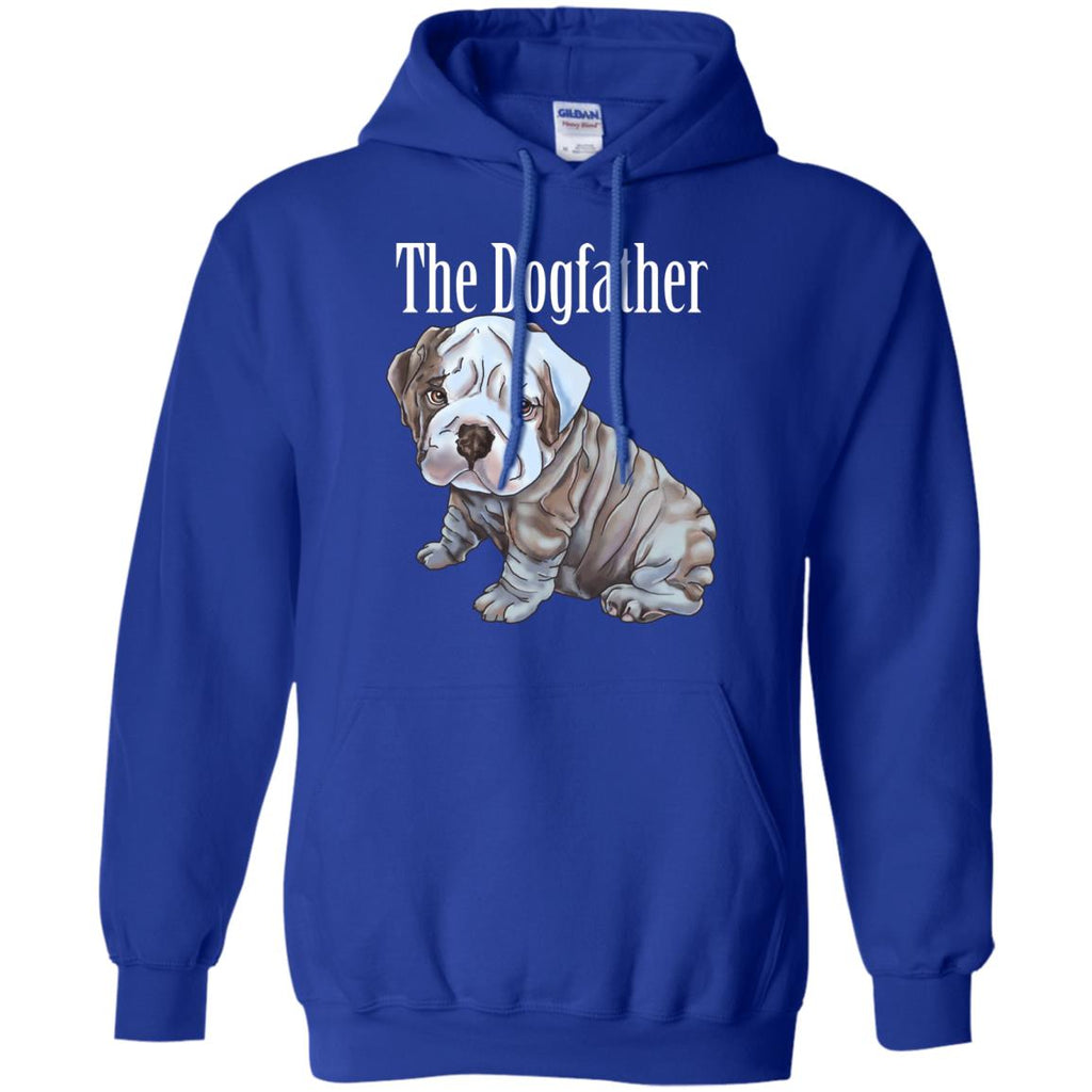 English bulldog Hoodie For Men - The Dogfather - GoneBold.gift