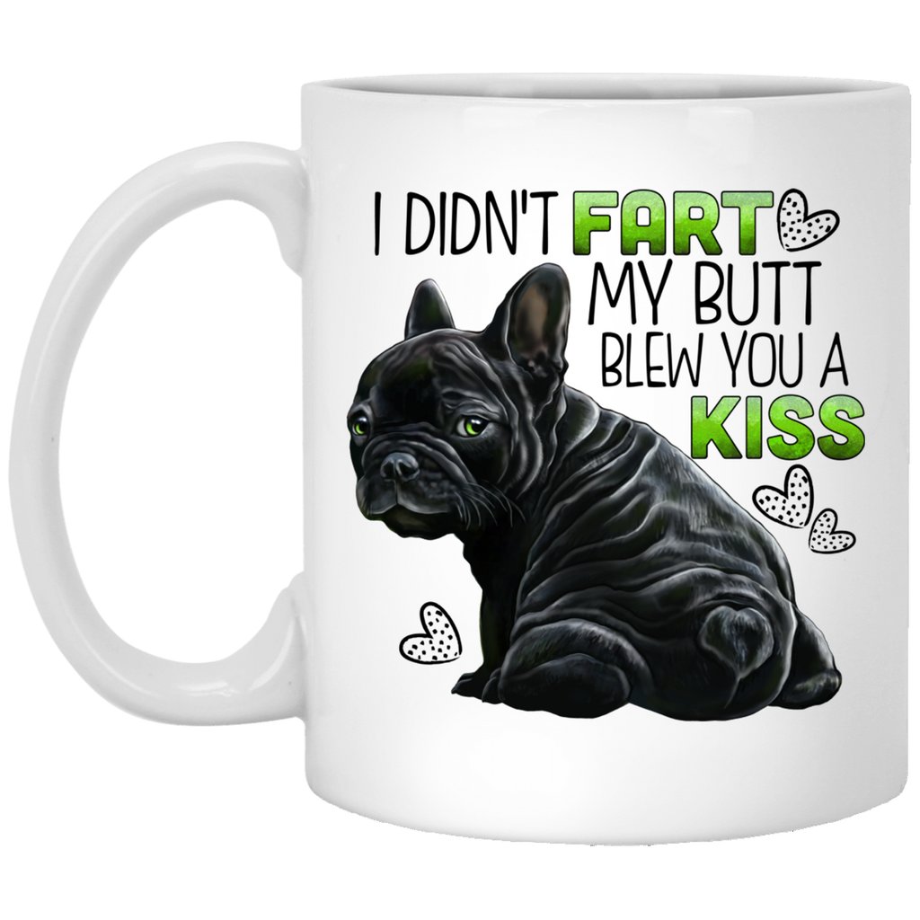 Black French Bulldog, Frenchie funny mug - GoneBold.gift