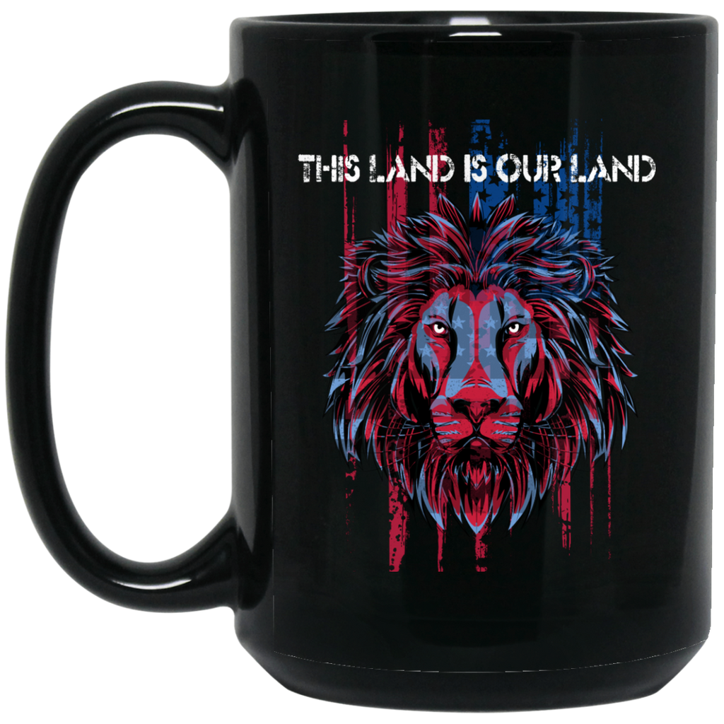 USA Flag Patriotic Mug - This Land Is Our Land - GoneBold.gift