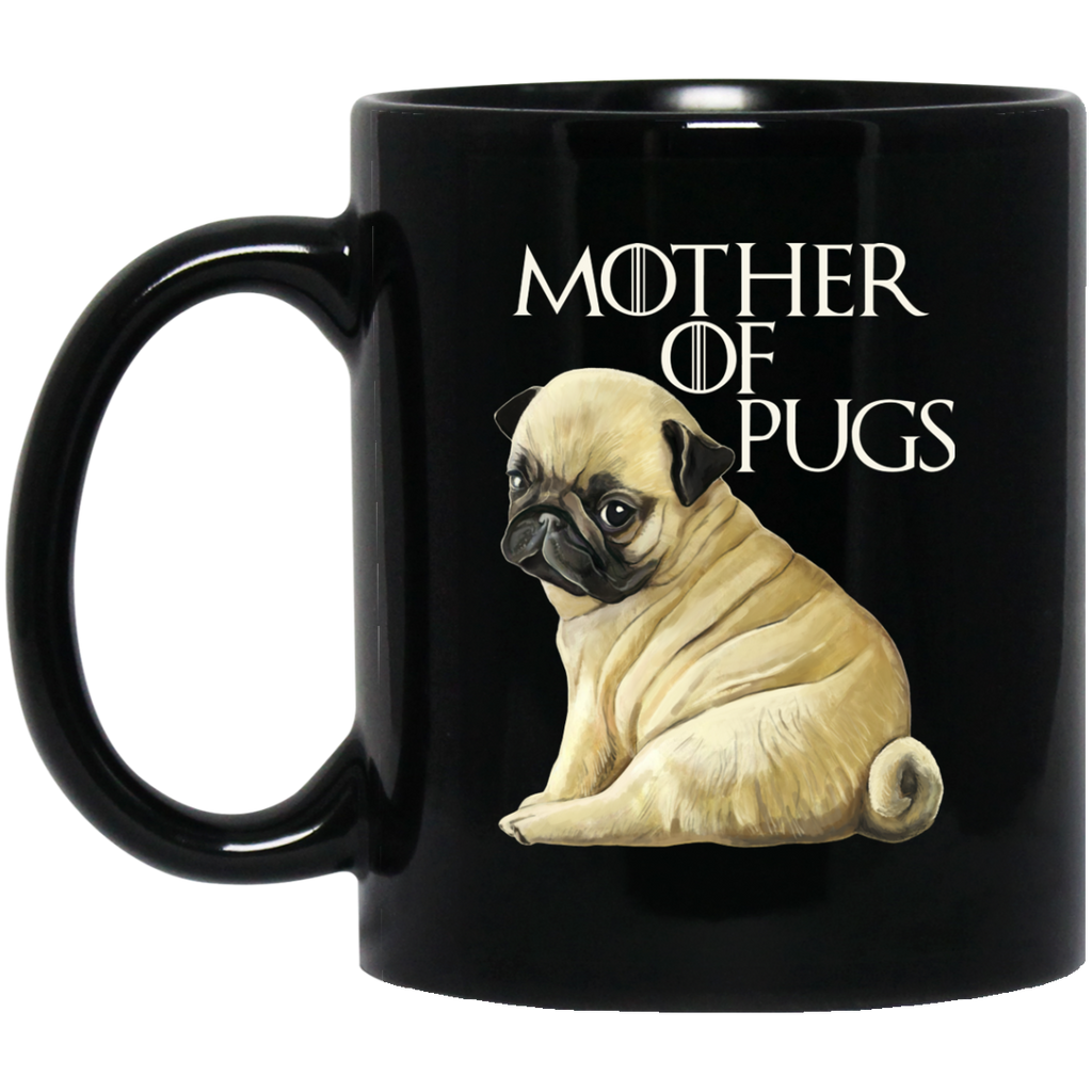 Pug Mug - Mother of Pugs Black Coffee Mugs - GoneBold.gift