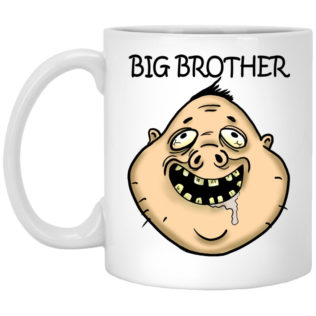 Big Brother funny Gift White Mugs - GoneBold.gift