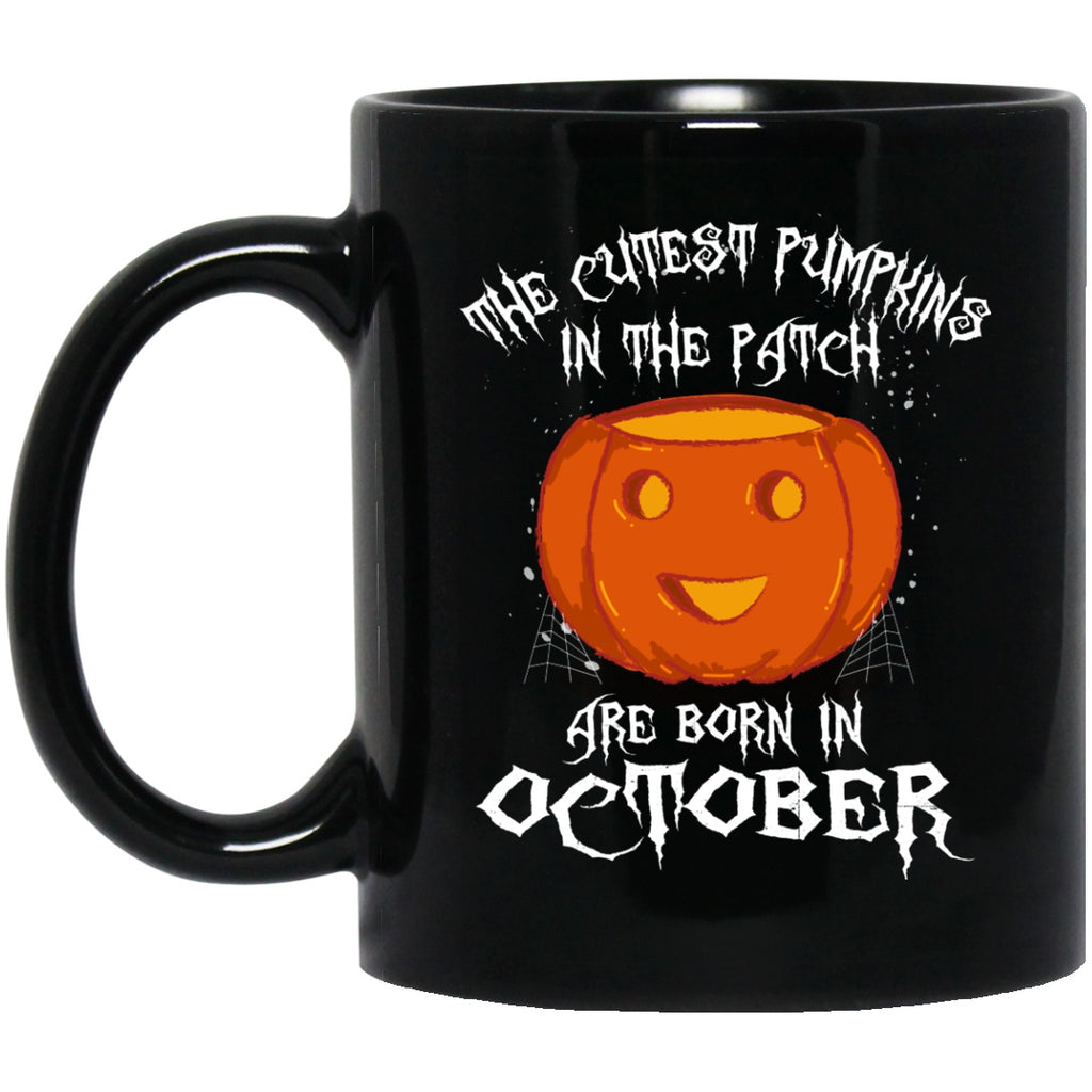 Born In October Mug Halloween Pumpkin Funny Coffee mug - GoneBold.gift