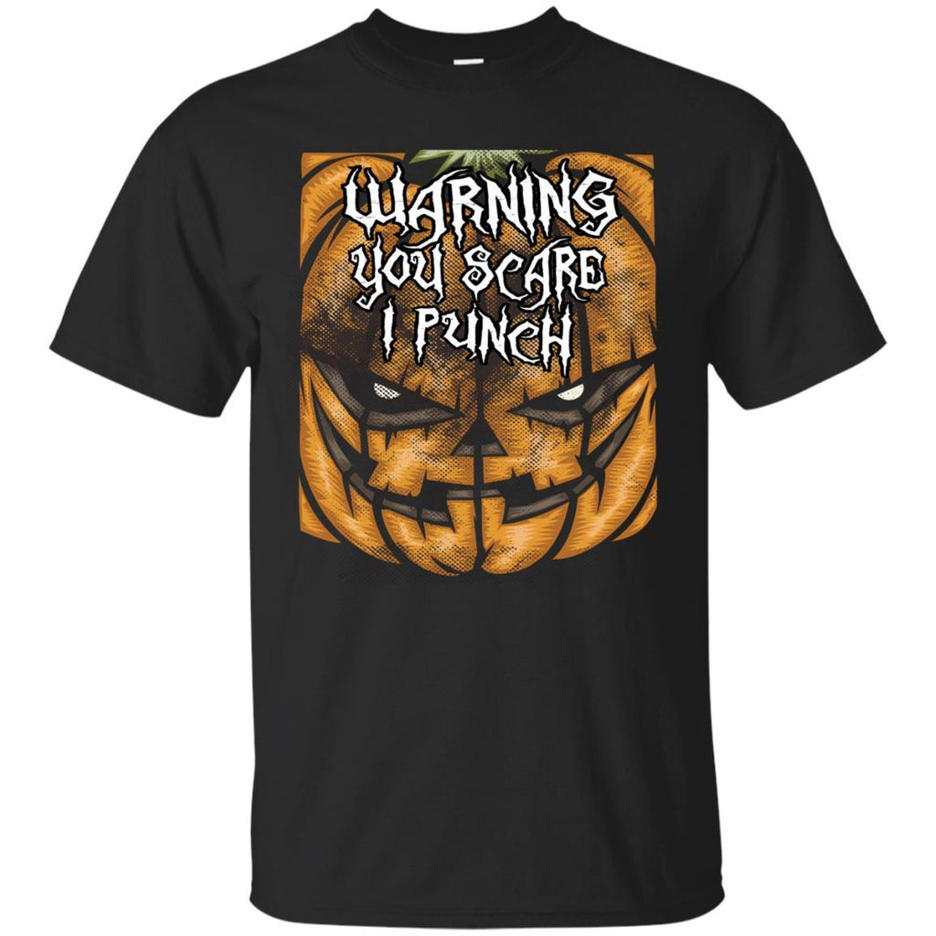 Funny Shirt Halloween You Scare I Punch Unisex Tees - GoneBold.gift
