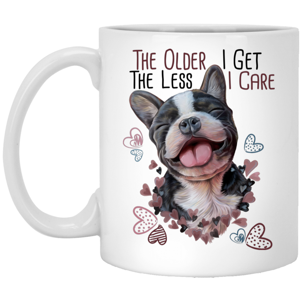French Bulldog Gifts, Funny Mug - The Older I Get The Less I Care - GoneBold.gift