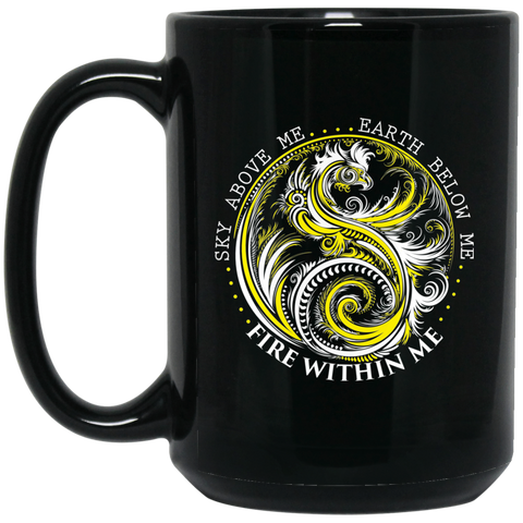 Yin Yang Dragon Coffee Mug