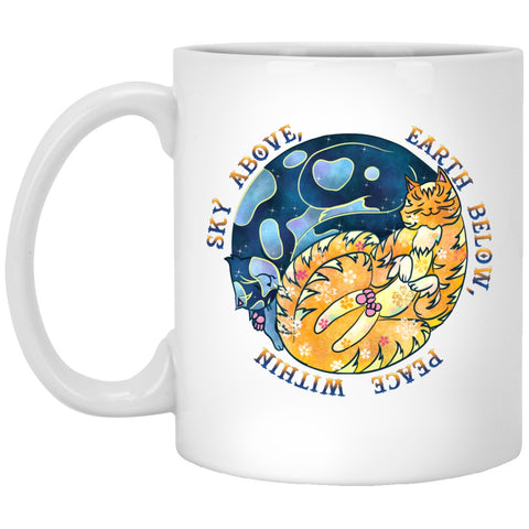 Cat Mug Yin Yang Sky Above Me White Mugs - GoneBold.gift