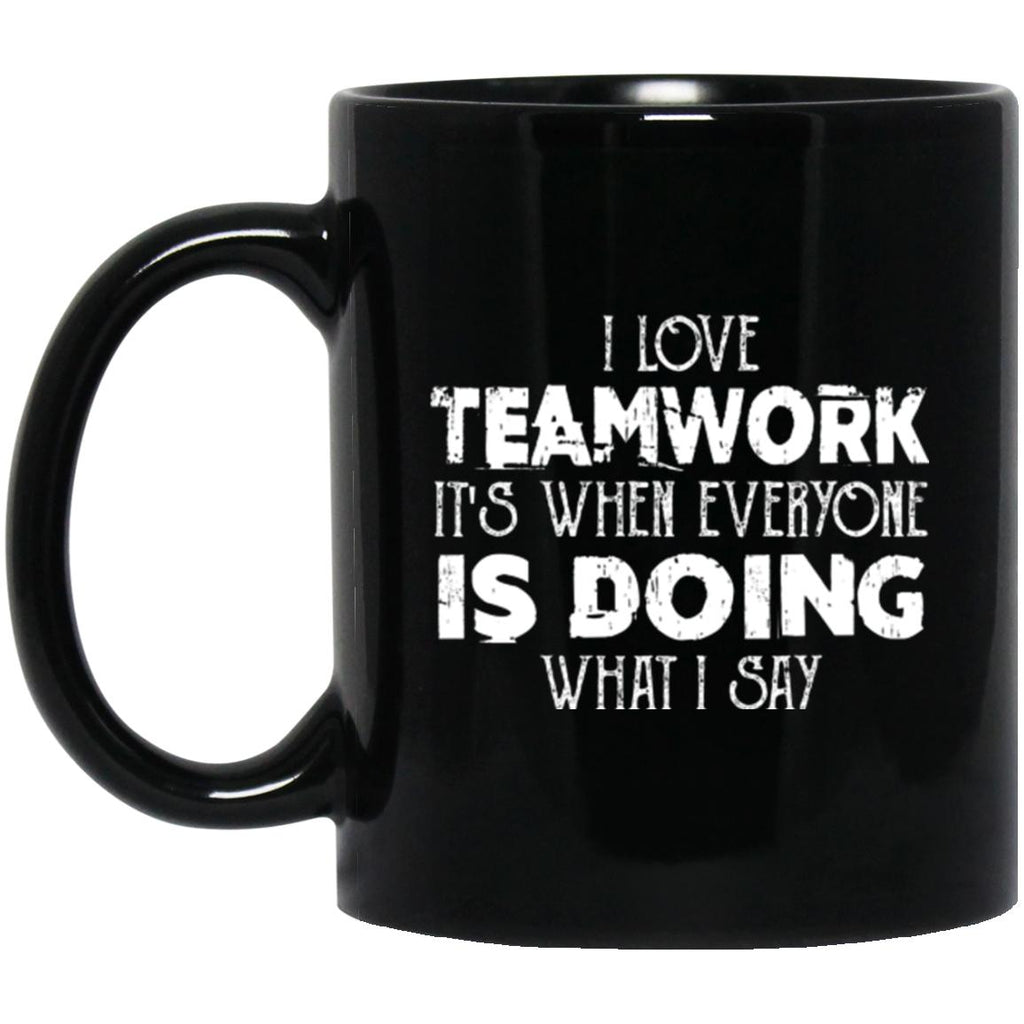 Funny Mug Teamwork Black Coffee Mugs - GoneBold.gift