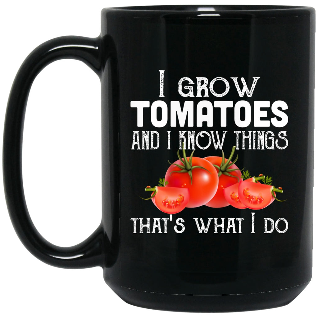 Funny Garden Mug Grow Tomatoes Black Coffee Mugs - GoneBold.gift