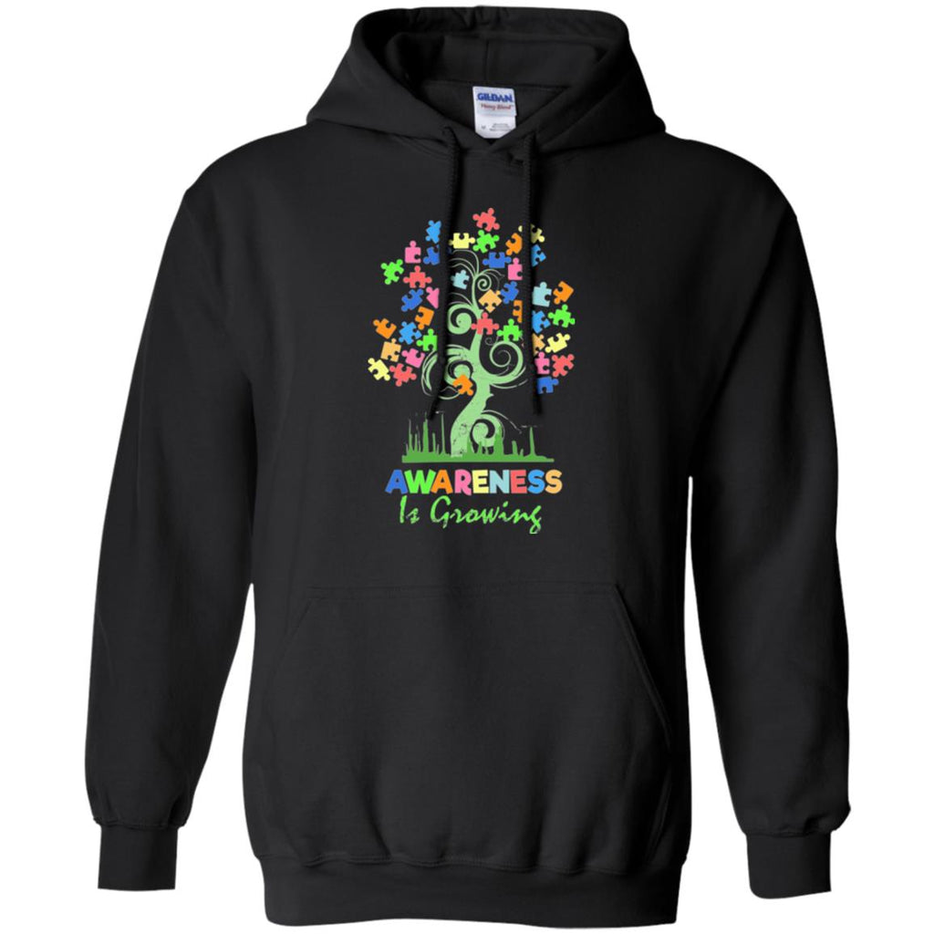 Autism Awareness Hoodie - Awareness Is Growing - GoneBold.gift