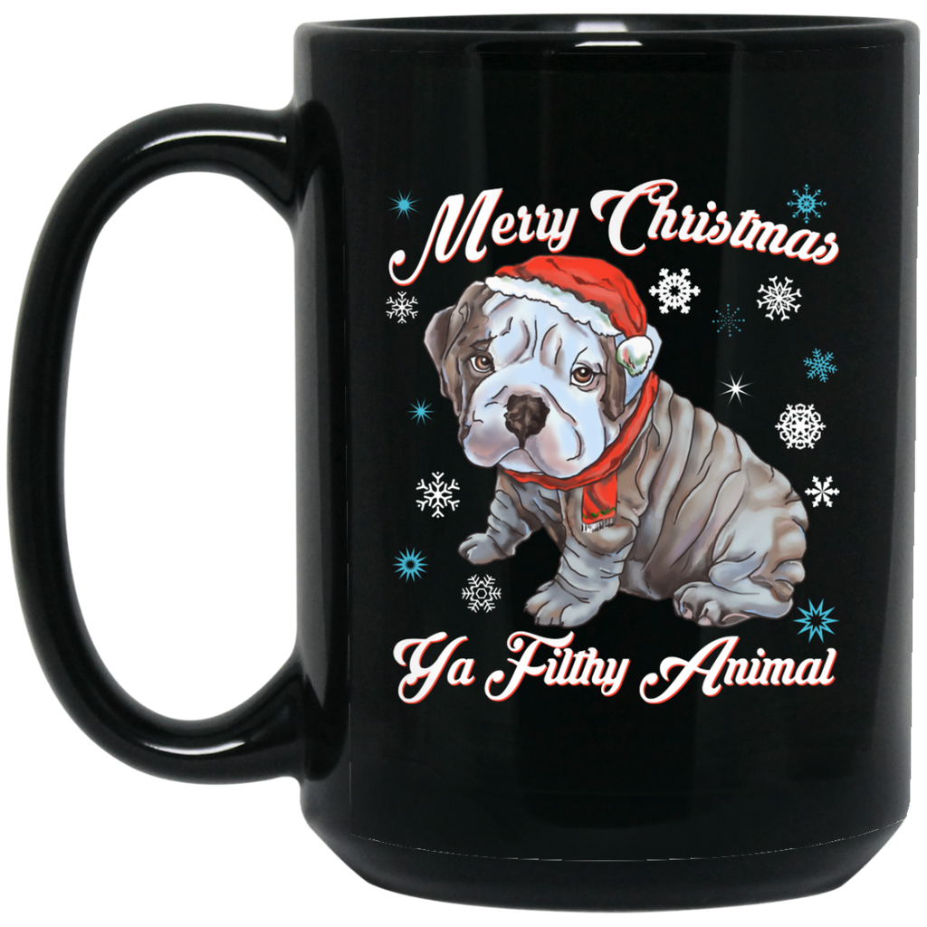 Christmas Mug - English Bulldog Puppy Gift Idea - GoneBold.gift