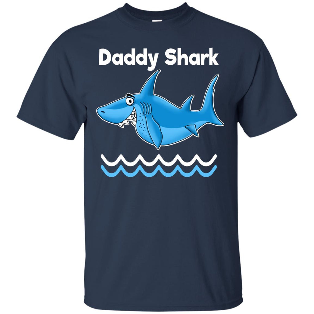 Gift for Dad, Daddy Shark Funny T-Shirt - GoneBold.gift