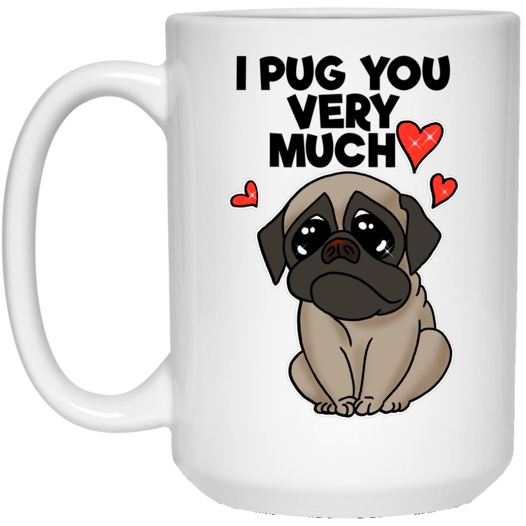 Valentine's Gift Pug Mug, Gift for Girlfriend, Boyfriend, Pug mom, dad - GoneBold.gift