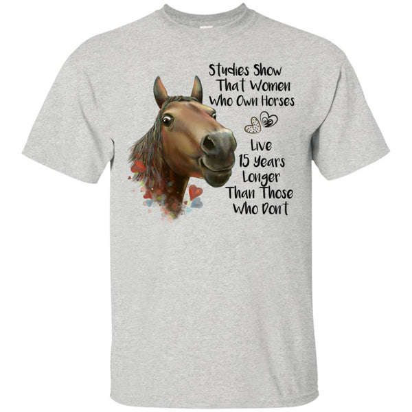 Horse T-shirt, Funny Shirt for Women, Horse Gift, Studies Show