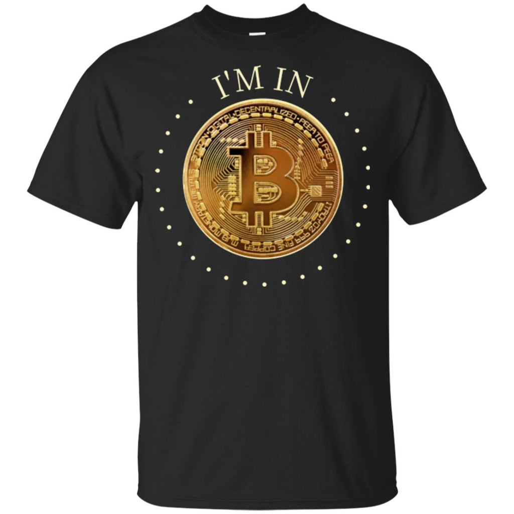 I'm In Gildan Youth Ultra Cotton Bitcoin T-Shirt - GoneBold.gift