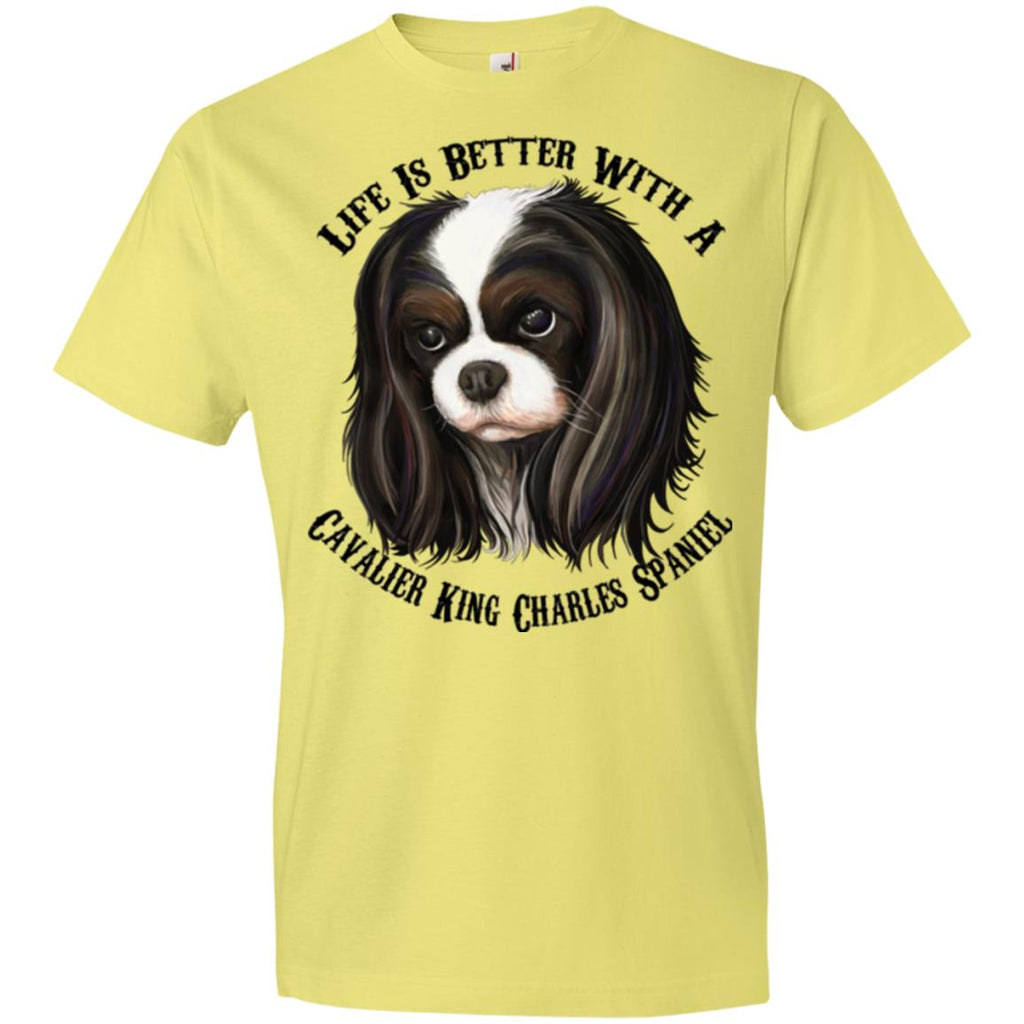 Cavalier King Charles Spaniel Premium Lightweight T-shirt, Life Is Better With  A Cavalier - GoneBold.gift