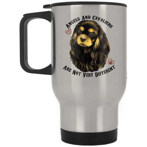 Cavalier King Charles Spaniel Black Tan Stainless Travel Mug - GoneBold.gift