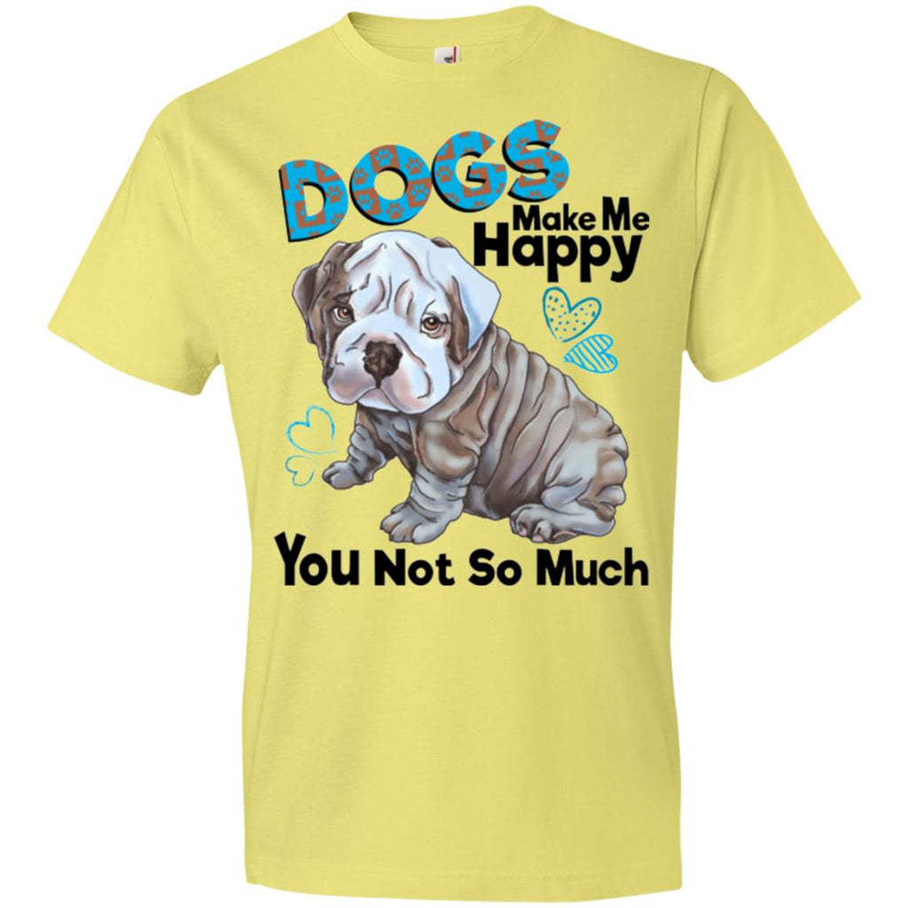 English bulldog premium T-shirt for Men, Women, Dogs Make Me Happy - GoneBold.gift