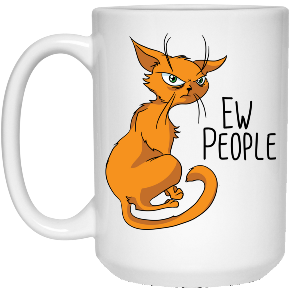 Cat Gifts, Ew People, Funny Cat Mug - GoneBold.gift
