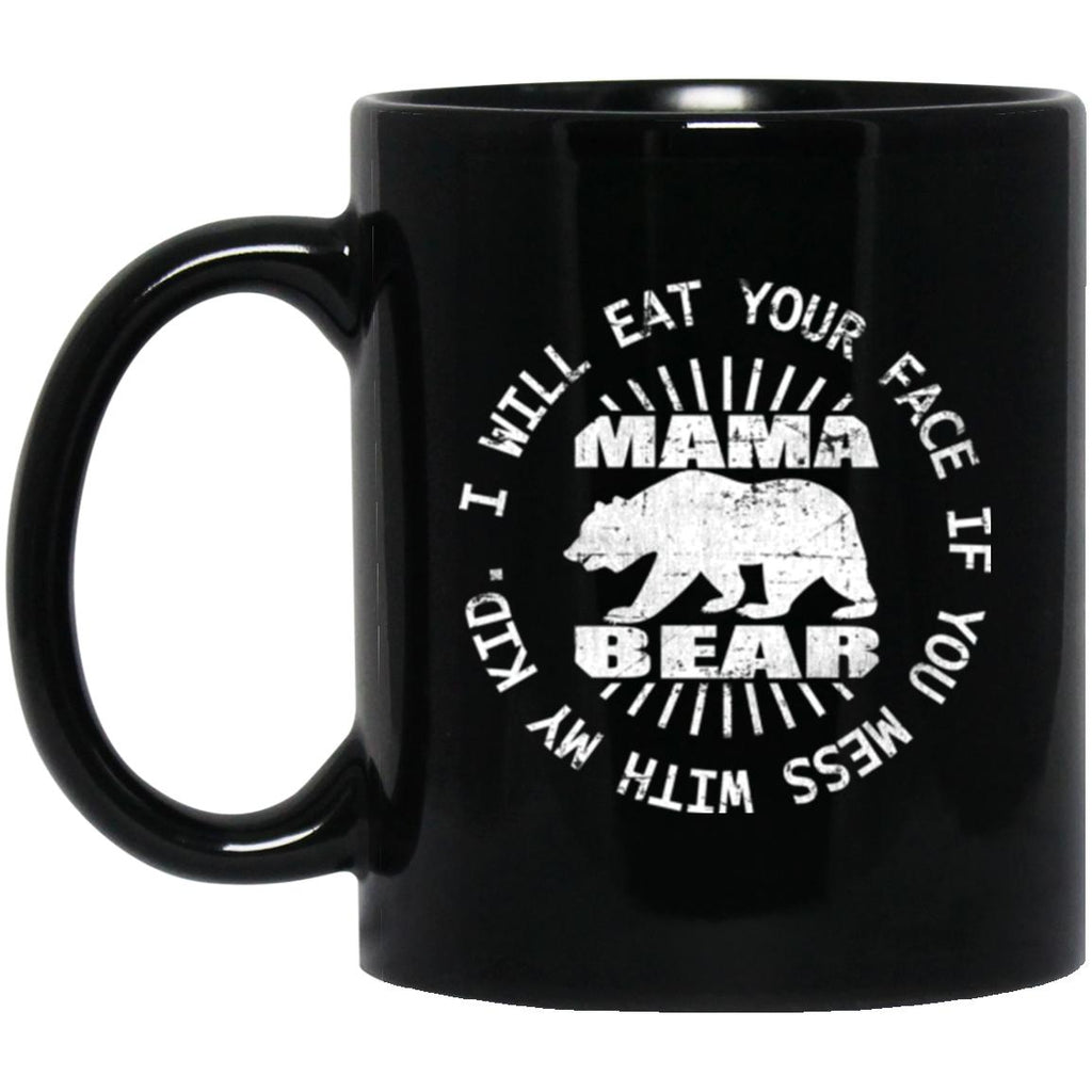 Mom Mug Mama Bear Black Coffee Mugs - GoneBold.gift